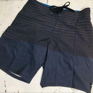 Rusty Striped Board Shorts